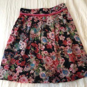Flowy floral skirt